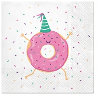 Servietten 33x33 cm - Dancing Donut