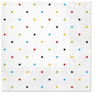 Servietten 33x33 cm - Colorful Dots