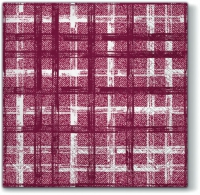 Servietten 33x33 cm - Fabric Check DARK RED