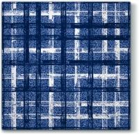 Servietten 33x33 cm - Fabric Check NAVY BLUE