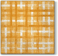 Servietten 33x33 cm - Fabric Check HONEY