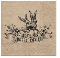 Servietten 33x33 cm - Vintage Easter