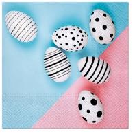 Servietten 33x33 cm - Modern Eggs