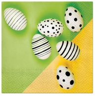 Servietten 33x33 cm - Modern Eggs (green)