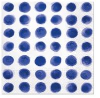 Servietten 33x33 cm - Aquarell Punkte BLAU