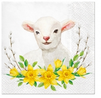 Servietten 33x33 cm - Lamb with Wreath