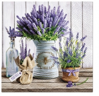 Servietten 33x33 cm - Lavender in Bucket