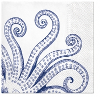 Servietten 33x33 cm - Octopus