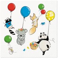 Servietten 33x33 cm - Animals Party