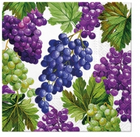 Servietten 33x33 cm - Natural Grapes
