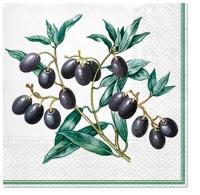 Servietten 33x33 cm - Olives with Frame