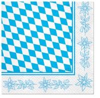 Servietten 33x33 cm - Bavarian Edelweiss
