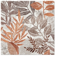 Servietten 33x33 cm - Rising Leaves (orange)