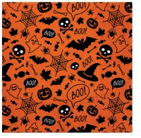 Servietten 33x33 cm - Halloween Pattern (orange)