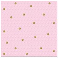 Servietten 33x33 cm - Inspirationspunkte Punkte Punkte Rosa-Gold