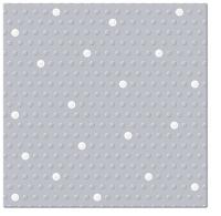 Servietten 33x33 cm - Inspiration Dots Spots silver-white
