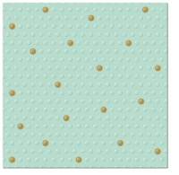 Servietten 33x33 cm - Inspiration Dots Spots mint-gold