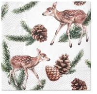 Servietten 33x33 cm - Deers and Cones