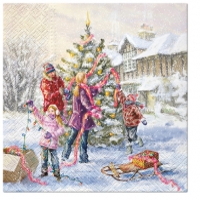 Servietten 33x33 cm - Family Holidays