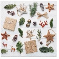 Servietten 33x33 cm - Natural Christmas