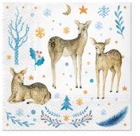 Servietten 33x33 cm - Reindeer Family