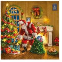 Servietten 33x33 cm - Santa is Here