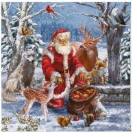 Servietten 33x33 cm - Santa's Gifts
