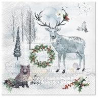 Servietten 33x33 cm - Watercolor Winter