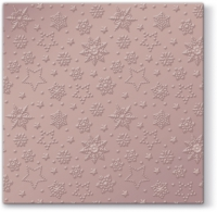 Lunch Servietten Winter Flakes (pink metallic)