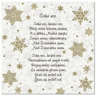 Servietten 33x33 cm - Inspiration Winterflocken Polnische Weihnachtslieder