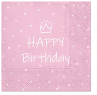 Servietten 33x33 cm - Special Day (light pink)