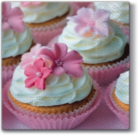 Servietten 33x33 cm - Lovely Muffin
