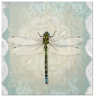 Servietten 33x33 cm - Romantische Libelle