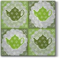 Lunch Servietten Tasty Tea green
