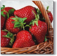 Servietten 33x33 cm - Strawberry Basket