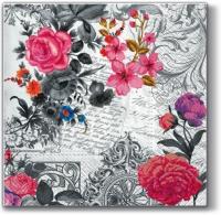 Servietten 33x33 cm - Königliche Rose