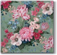 Servietten 33x33 cm - Aroma Stille Blumen