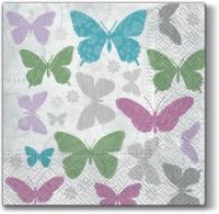 Servietten 33x33 cm - Aroma Weiche Schmetterlinge