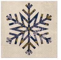 Servietten 33x33 cm - Big Snowflake