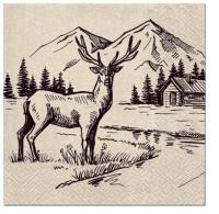 Servietten 33x33 cm - We Care Mountain View
