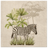 Servietten 33x33 cm - We Care Zebra