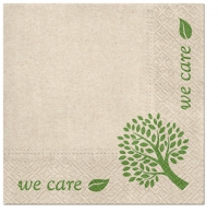 Servietten 33x33 cm - We Care Tree