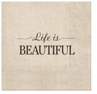 Servietten 33x33 cm - We Care Beautiful Life