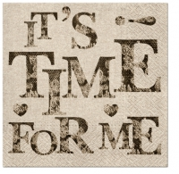 Servietten 33x33 cm - We care Time for Me