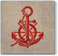 Servietten 33x33 cm - We Care Anchor Style