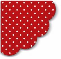 Servietten - Rund Dots (red)