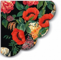 Servietten - Rund - Nostalgischer Blumenstrauß