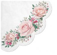 Servietten - Rund - Gorgeous Roses