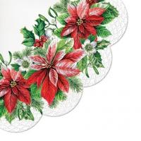 Servietten - Rund - Glory Poinsettia