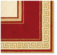 Servietten 33x33 cm - Athena (dark red)